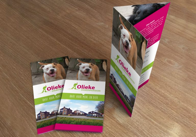 Dierenpension Olieke folders